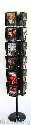Planet Racks 24 Pocket DVD Floor Display - Black - Holds 96