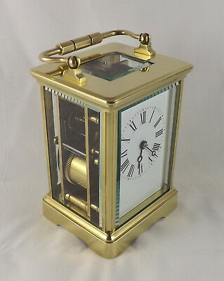 Large, Heavy, Striking Carriage Clock - French - Fully Cleaned & Serviced