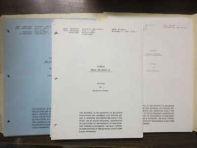 Airwolf Lot of 3 TV Scripts Where the Heart Is One Way Express Mad in Miami