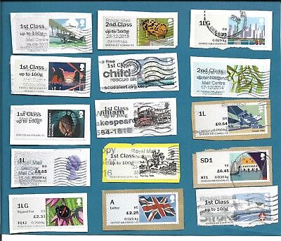 Used UK Post and Go labels ,15 different. On paper from kiloware.