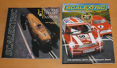 Scalextric History & Passion and A Race through Time Books, Excellent Condition