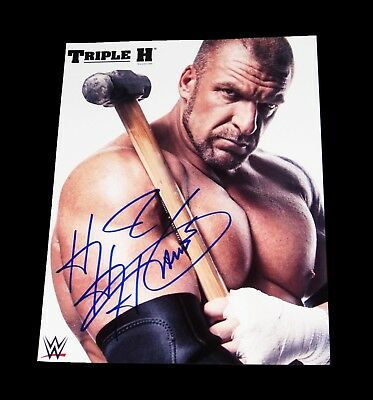 Wwe Triple H The Game Hand Signed Autographed Promo Photo With Coa 1