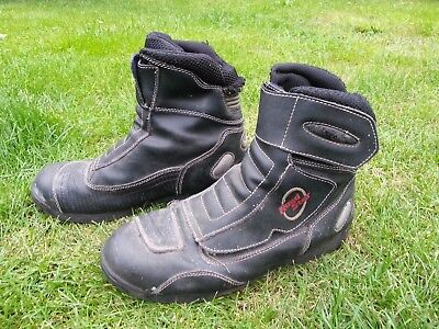 Road Star NB30 Nitro Racing Motorcycle Leather Ankle Boots Size UK 9  EU 43