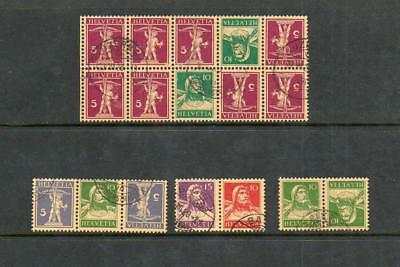 (A27) Switzerland Old Booklet Pane And Booklet Stamps Used See Scan