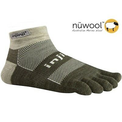 Injinji Outdoor Original Weight Micro Toe Socks- NuWool Oatmeal-XL