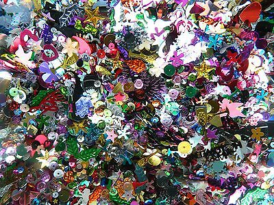 25 Or 50 Grams Loose Mixed Assorted Shaped Sequins Sewing Card Making