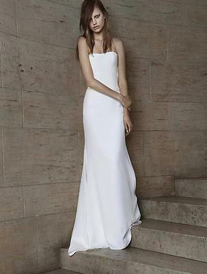 AUTHENTIC Vera Wang Odelle 112015 Ivory Silk NEW Wedding Dress 8 RETURN POLICY