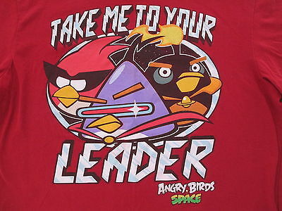Rovio Entertainment Angry Birds Space Video Game Red T Shirt M Medium L Large