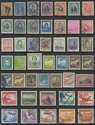 Chilean Stamps - Singles - Mint & Used - Lot F-15