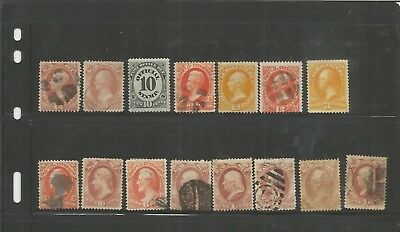 Us 1800's Official Stamp Collection, Both Mint An Used