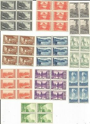 Us Scott# 756-765, Vert. Line Blk Collection, Mng, Complete, Farley Special