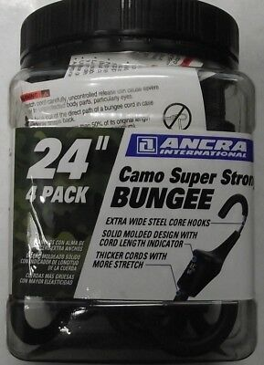 "Ancra 95729 24"" Camo Super Strong Bungee Cords 4pk"