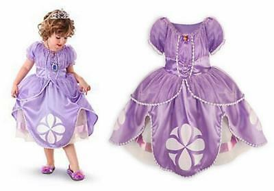 Girls PRINCESS SOFIA Dress Costume Fancy Dress Kids Party Disney  EX C&A