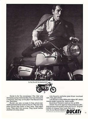 """1966 Ducati 160 Motorcycle photo """"For Everyone?"""" Ad"""