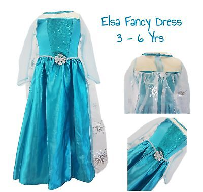 Girls PRINCESS ELSA Dress Costume Fancy Dress Kids Party Disney Frozen EX C&A