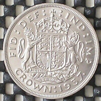 1937 King George V1 British Silver Crown Coin