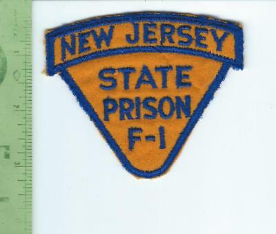 NJ New Jersey State Prison F 1 patch   embroidered  on felt