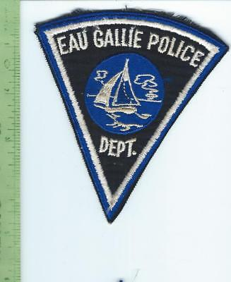 Eau Gallie Florida Police  patch   embroidered  on twill