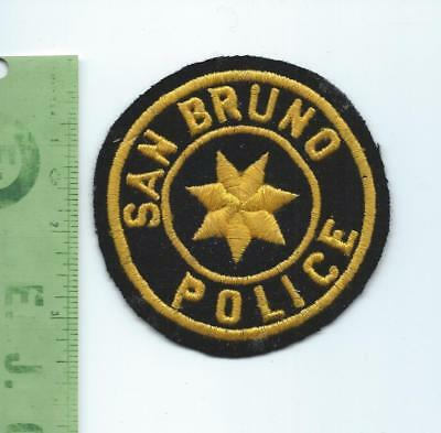 San Bruno California   Police patch   embroidered  on felt