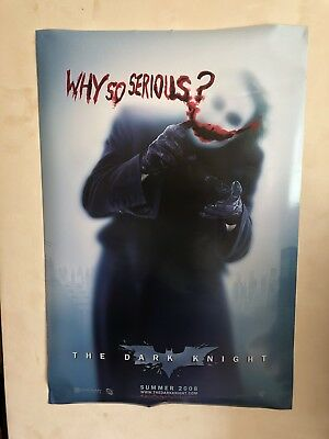 Original Dark Knight Movie Film Poster Why So Serious The Joker