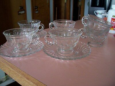 Fostoria Colony 7 cups and 5 saucers