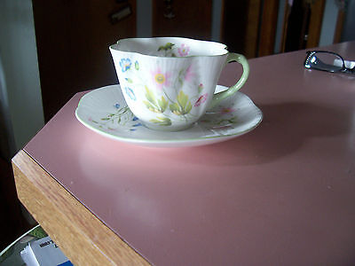 Shelley Wild Anemome  cup and saucer
