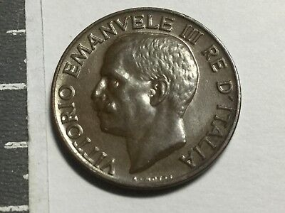 ITALY 1929 5 Centesimi coin about uncirculated