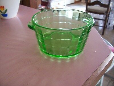Block Optic green open butter tub or ice tub
