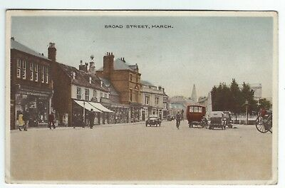 1932 Postcard Broad Street March Isle of Ely Cambridgeshire by A Crowson