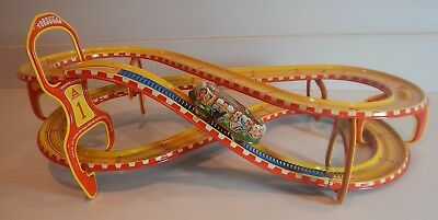 Roller Coaster Tin Lithograph Toy Vintage Technofix Toboggan With Original Box