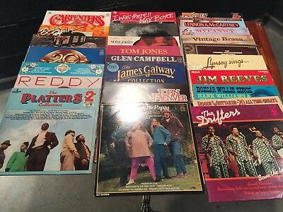 Box Of Vintage Retro 1970's 1980's Vinyl Albums