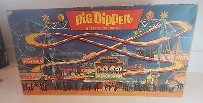 Vintage 1967 Technofix 316 Big Dipper Battery Operated Tin Roller Coaster