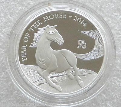 2014 Royal Mint British Lunar Horse £2 Two Pound Silver Proof 1oz Coin Box Coa