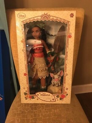 "New Disney Limited Edition - Moana Doll (Only 6500 Made) 16"" Nib Free Shipping"