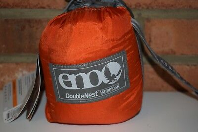 ENO Eagles Nest Outfitters DoubleNest Hammock (Orange / Grey) NWT