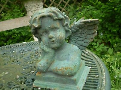 Vintage French Cherub Garden Statue,architectural Salvage,reclamation