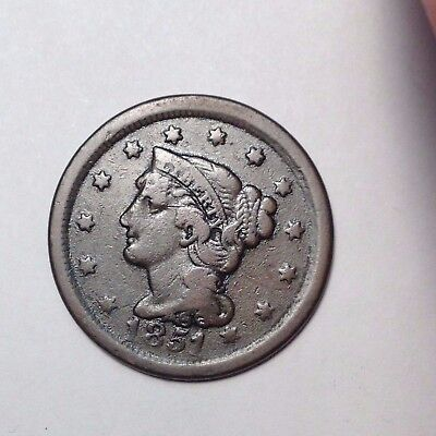 1851 Large Cent Braided Hair. Nice Eye Appeal!! Take A Look!!