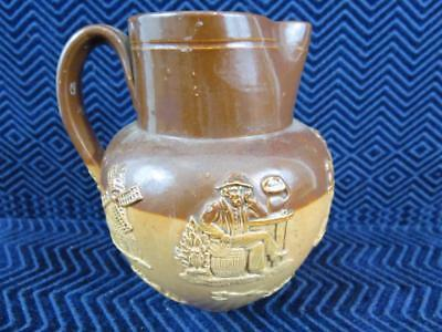 "Antique Doulton Lambeth Stoneware Pottery Pitcher 5"" Tall"