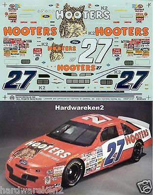 Nascar Decal #27 Hooters 1995 Ford Thunderbird Loy Allen Slixx