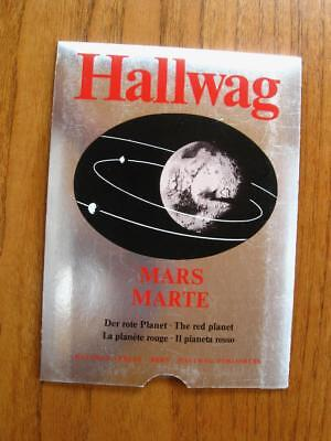 Hallwag wall map of Mars the red planet