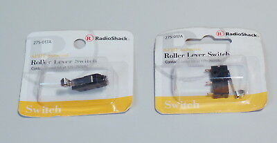 Lot of 2 SPDT Submini Roller Lever Switch 5A@250VAC RadioShack 275-0017 275-017