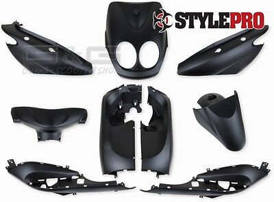 Fairing Kit 9 Piece Black Matte YAMAHA NEOS MBK OVETTO from 2007