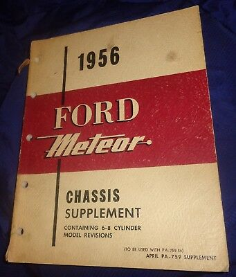 BG647 1956 Ford Meteor Chassis Manual Supplement