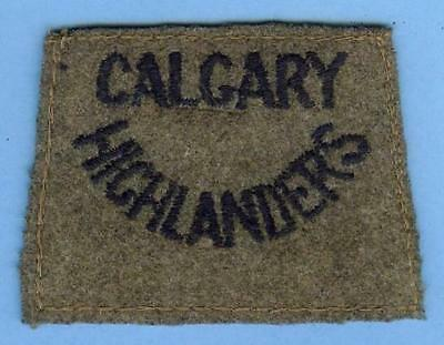 Canadian Army Slip-on Title Patch Early WWII--CALGARY HIGHLANDERS Scottish