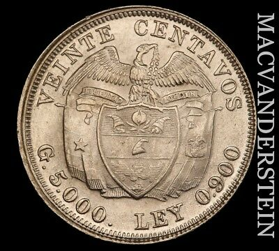 Colombia: 1938 Twenty Centavos - Gem  Brilliant Uncirculated!!  #w561