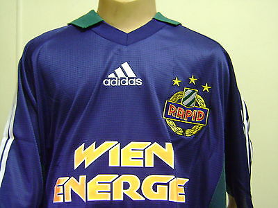 Rapid Wien Rapid Vienna Away 2004 Jersey Boys Xl Suit 12-14 Yrs Old Authentic