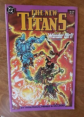 The New Titans #54 Dc Mar 89 Nm Combine Shipping