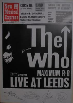 Who Live At Leeds - Numbered Poster UK poster POSTER