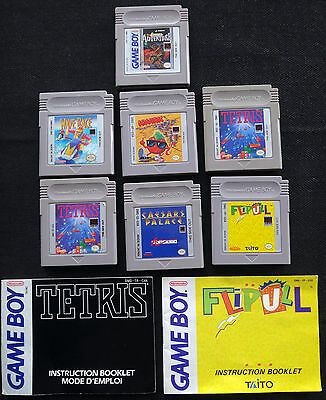 LOT of 7 GAME BOY GAMES - Nintendo - WORKS