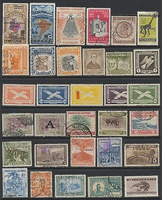Colombian Stamps - Singles - Mint & Used - Lot F-46